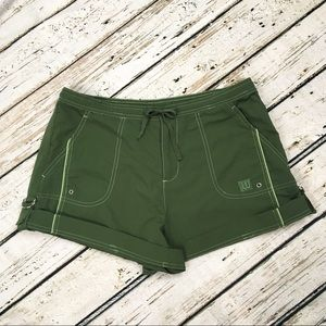 Wilson Shorts Large Nylon Cuff Green Active
